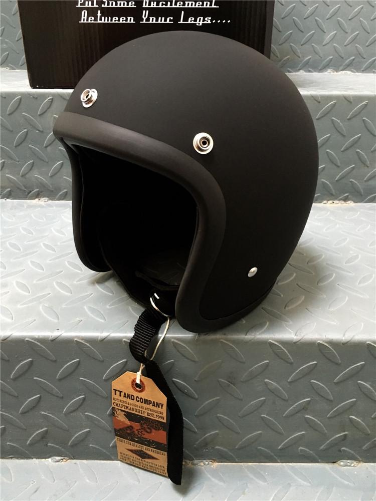 Открытый мотошлем Ретро BornFree 500TX Черный Матовый